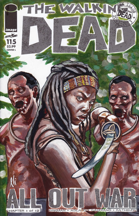 Walking Dead Michone Original Art by Lee Lightfoot