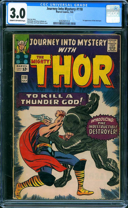 JOURNEY INTO MYSTERY #118 CGC 3.0 1ST DESTROYER