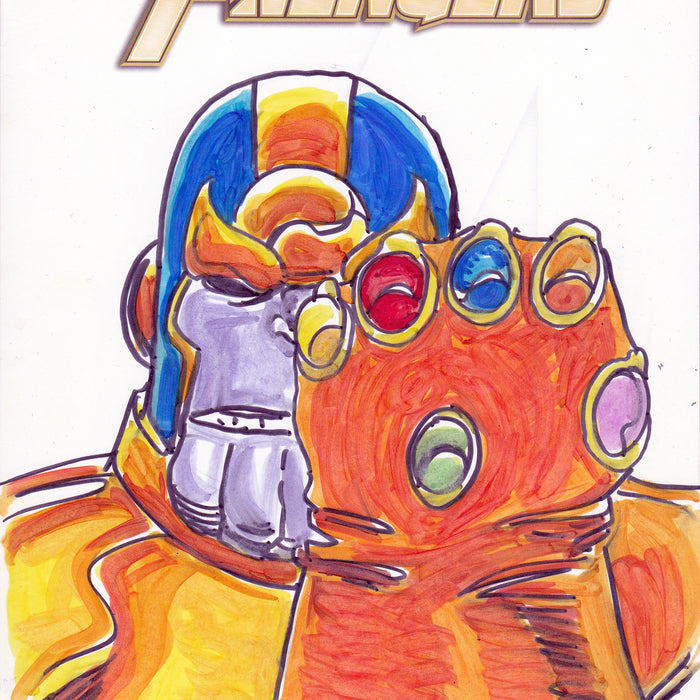 Thanos Original Art by George Perez & Tom Smith