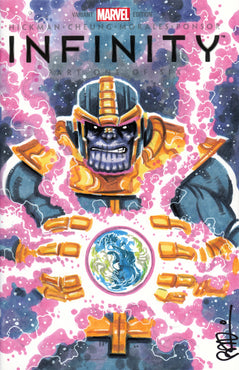 Thanos Original Art by Scott Blair