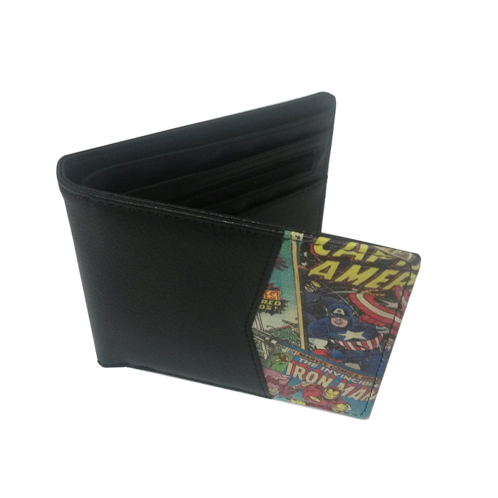 Marvel Retro Comic Red Wallet with Outside Print