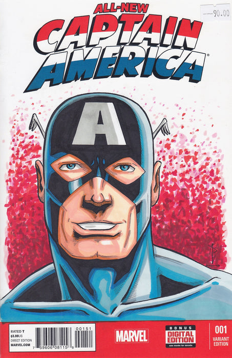 CAPTAIN AMERICA Original Art by ANDY POTTER