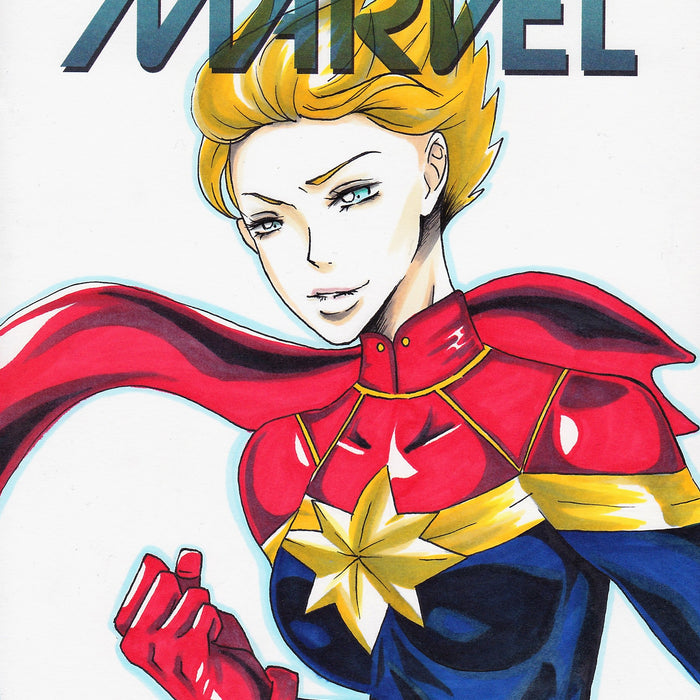 CAPTAIN MARVEL Original Art by PRIN NANA