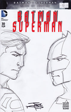BATMAN VS SUPERMAN Original Art by JOE PRADO