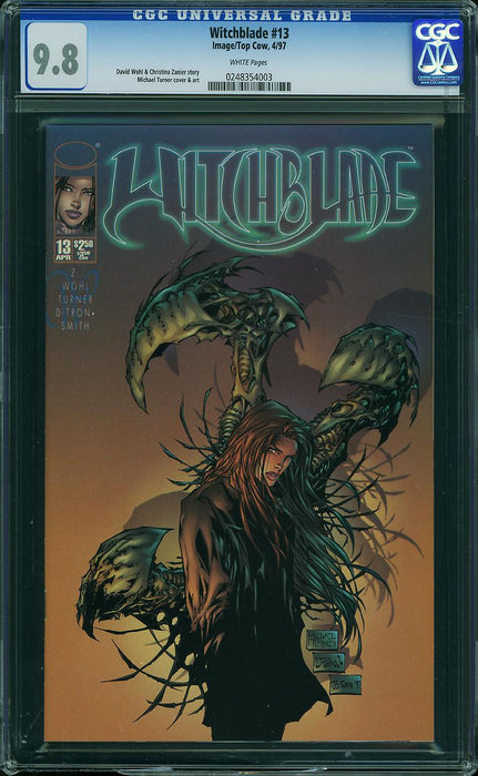 WITCHBLADE #13 CGC 9.8 CRACKED CASE