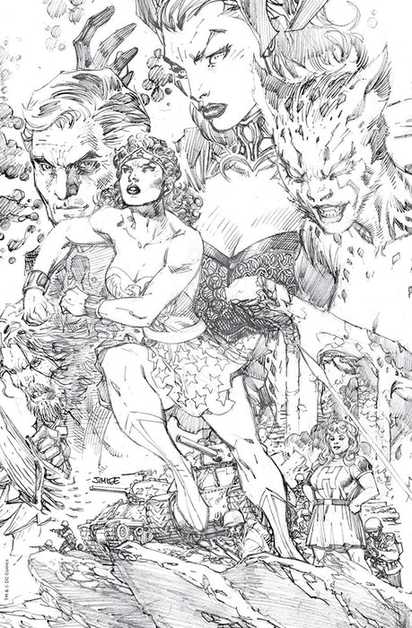 WONDER WOMAN #750 JIM LEE CONNECTING SKETCH CVR G