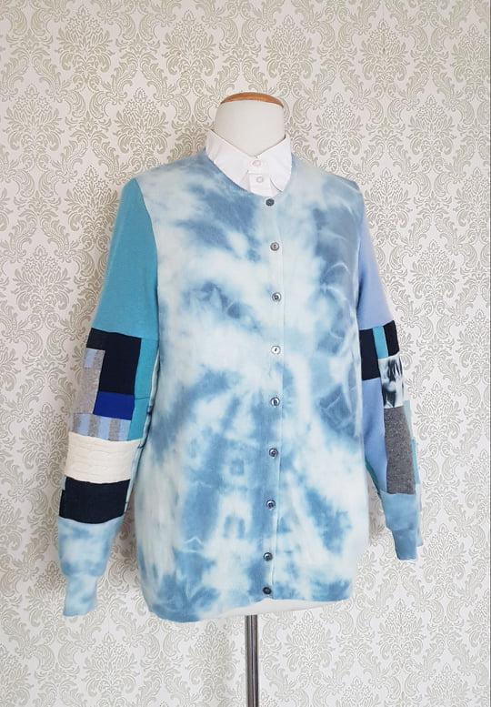 Blue Bird Tie Dye Cardi - MEDIUM-LARGE