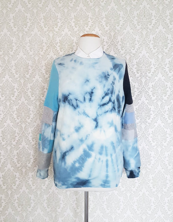 Blue Skies Tie Dye Pullover - MEDIUM LARGE