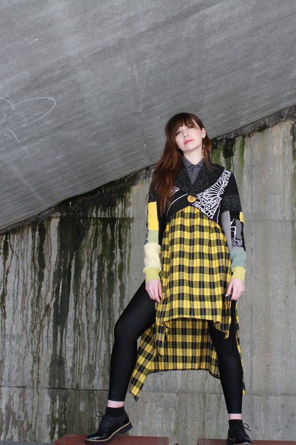 Yellow Plaid Mister Madame Shirtdress