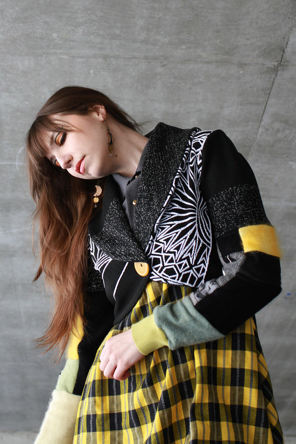 Bess Bolero Sweater Yellow + Black