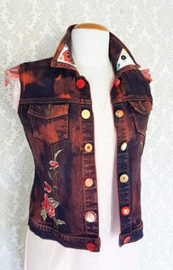 Campfires + Stardust Reworked Denim Vest