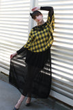 Lace Plaid Cape Blouse