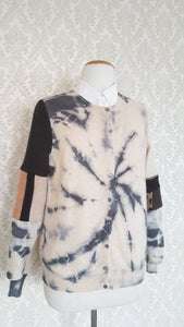 Cashew Coal Tie Dyed Cardigan - SMALL-MEDIUM