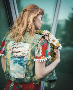 Wild Meadow Reworked Denim Vest
