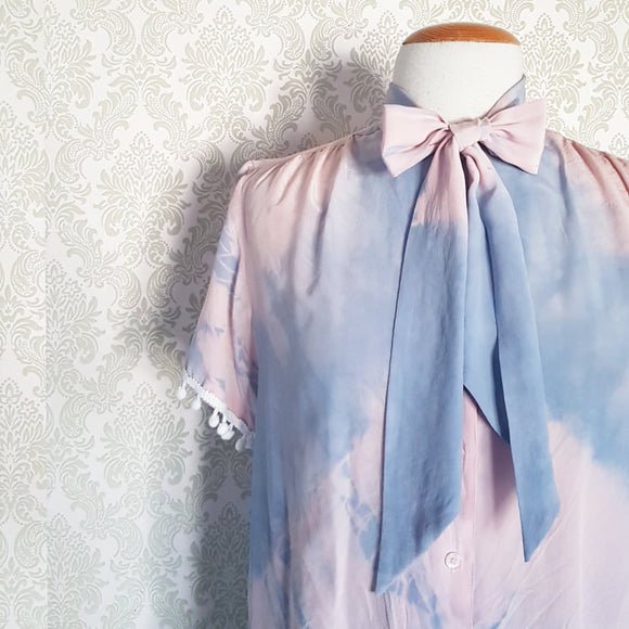 Faded Rose & Lavender Tie Dye Blouse