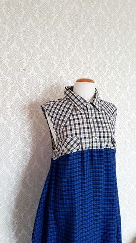 Blue Plaid Mister Madame Shirtdress