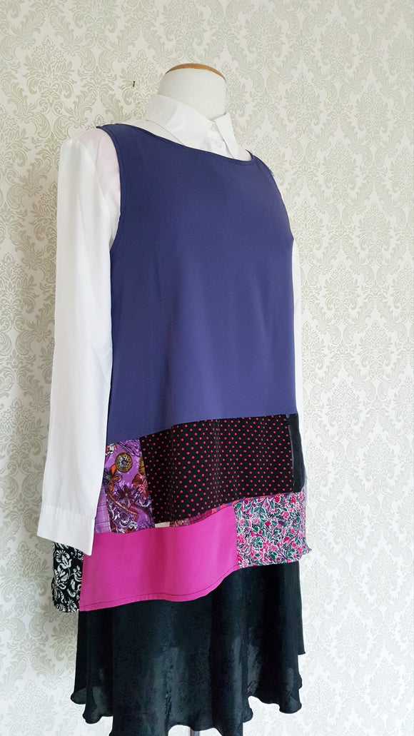 Patchwork Canopy Tank - Purple Pink