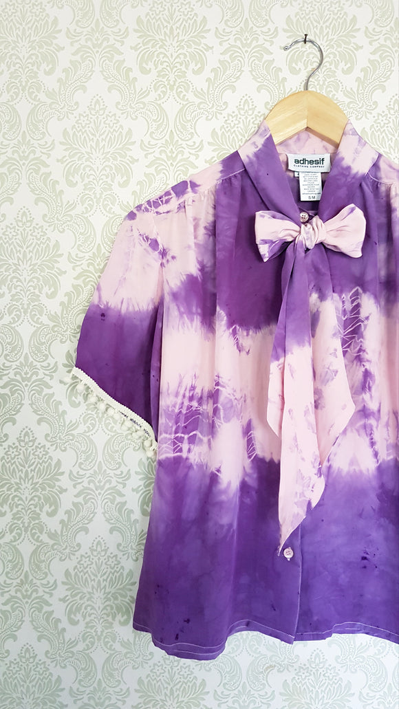 Pink Purple Tie Dye Blouse