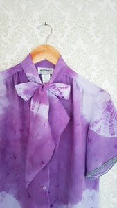 Lavender Purple Tie Dye Blouse