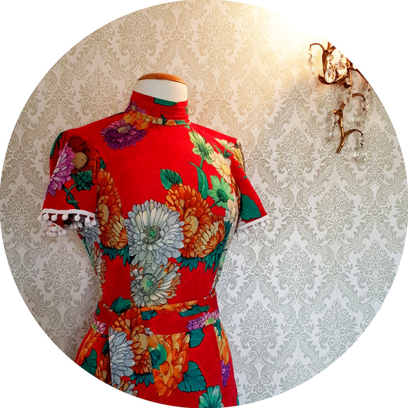 Red Floral Majesty Dress