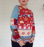 Russian Doll Patchwork Pullover