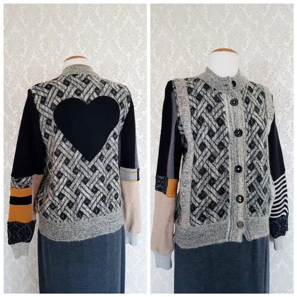 Retro Heart Cardigan