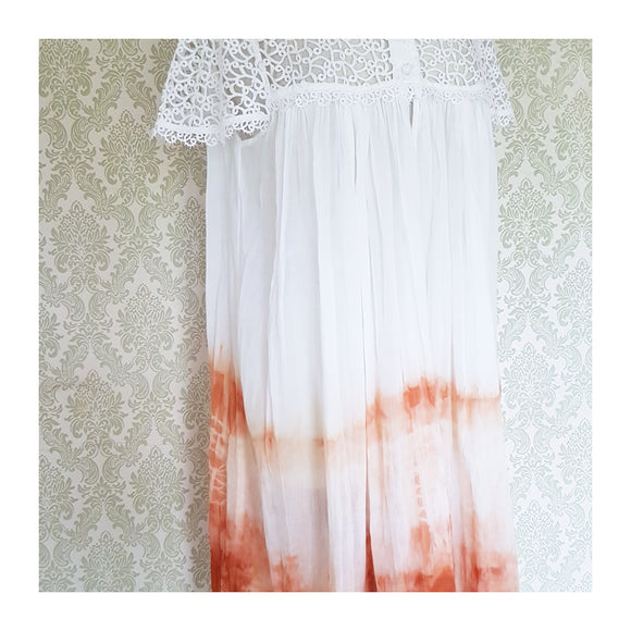 Terracotta Dreams Tie Dye Dress