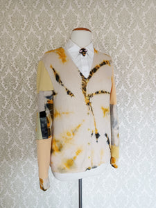 Honey Comb Tie Dyed Cardigan - MEDIUM