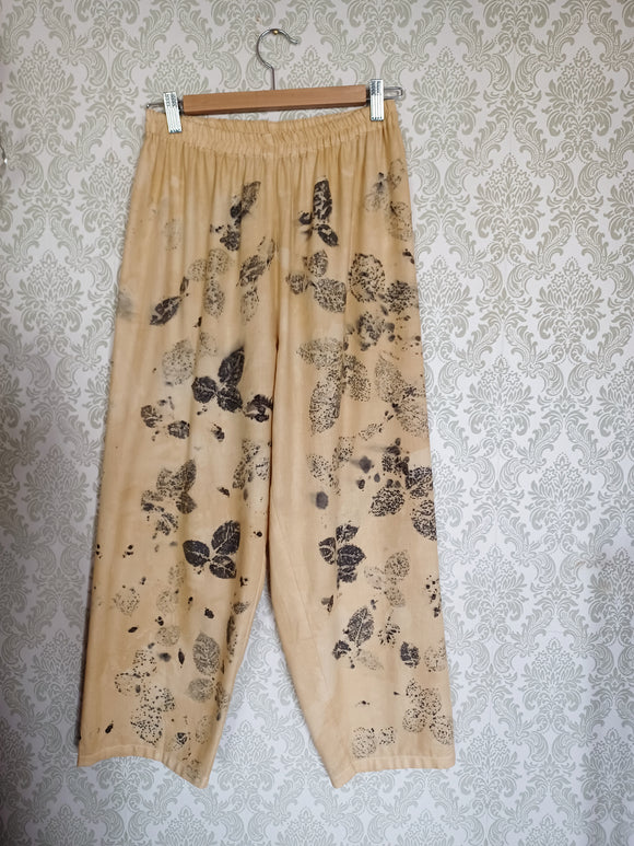 Pale Jaune Eco Printed Vintage Cotton Pants