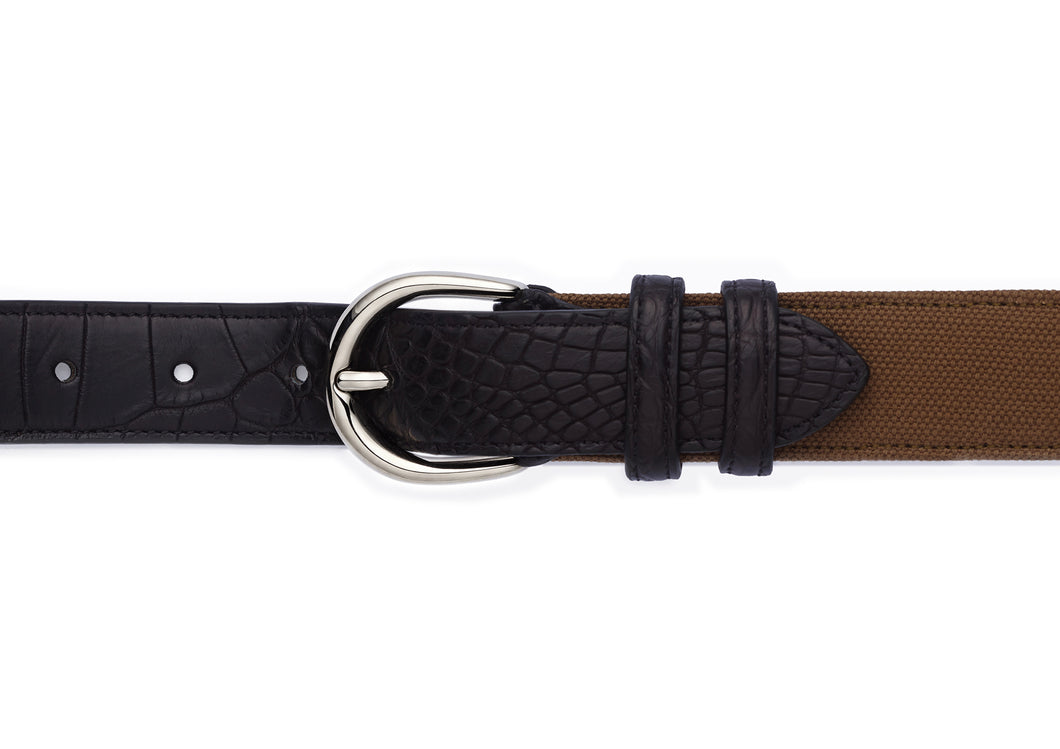 BELT - CANVAS & CROCO