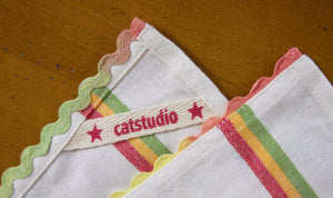 12 Days of Christmas Dish Towel - catstudio
