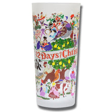Load image into Gallery viewer, 12 Days of Christmas Drinking Glass - catstudio