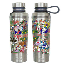 Load image into Gallery viewer, 12 Days Of Christmas Thermal Bottle - catstudio