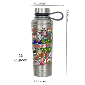 12 Days Of Christmas Thermal Bottle - catstudio