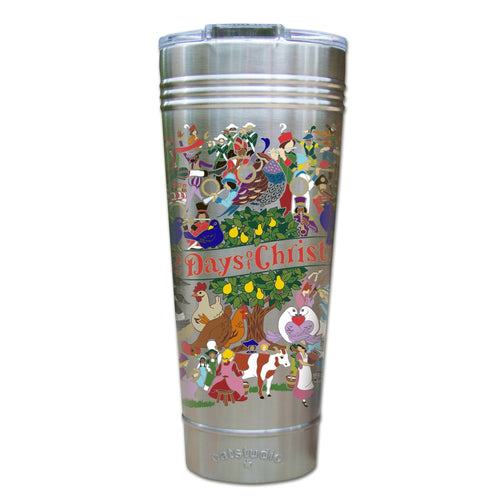 12 Days Of Christmas Thermal Tumbler (Set of 4) - PREORDER Thermal Tumbler catstudio
