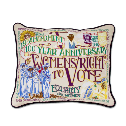 19th Amendment Embroidered Pillow Pillow catstudio