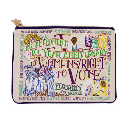 19th Amendment Zip Pouch Pouch catstudio