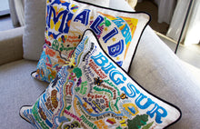 Load image into Gallery viewer, Malibu Hand-Embroidered Pillow - catstudio