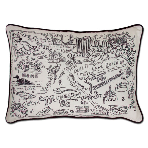 Minnesota Hand-Guided Machine Pillow - catstudio