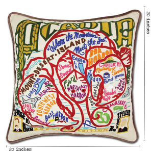 Acadia Hand-Embroidered Pillow - catstudio