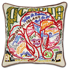 Load image into Gallery viewer, Acadia Hand-Embroidered Pillow - catstudio