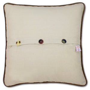 Adirondacks Hand-Embroidered Pillow - catstudio
