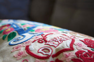 Alabama Hand-Embroidered Pillow - catstudio