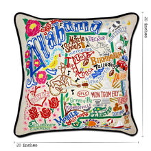 Load image into Gallery viewer, Alabama Hand-Embroidered Pillow - catstudio
