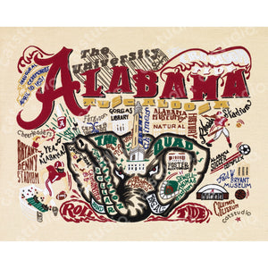 Alabama, University of Collegiate Fine Art Print - catstudio