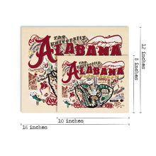 Load image into Gallery viewer, Alabama, University of Collegiate Fine Art Print - catstudio