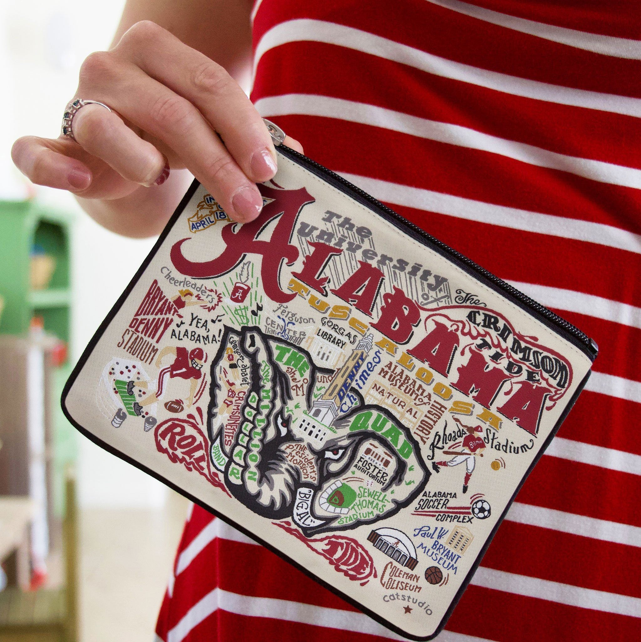University of Alabama Zip Pouch   Collegiate Collection by catstudio