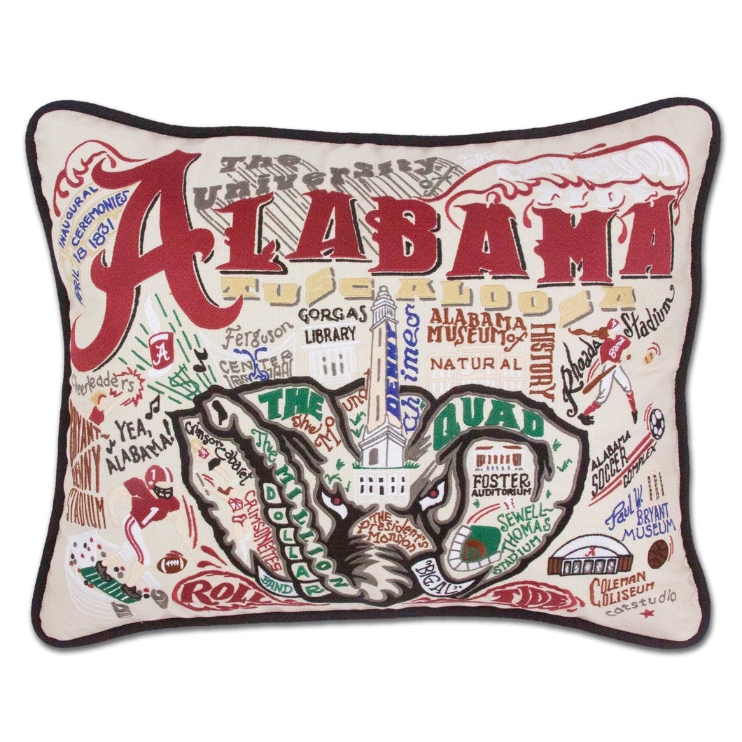 Alabama, University of Collegiate XL Hand-Embroidered Pillow - catstudio