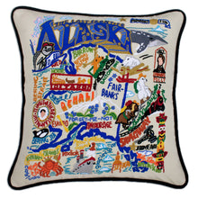 Load image into Gallery viewer, Alaska Hand-Embroidered Pillow - catstudio
