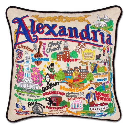 Alexandria Hand-Embroidered Pillow - catstudio